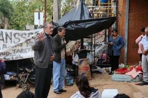 Obispo Martinez bendijo la protesta